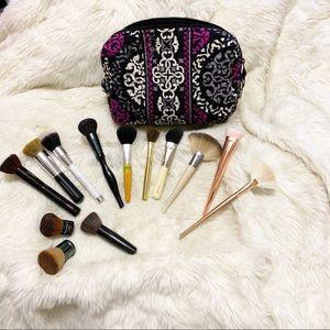 🌺Bundle🌺 Brushes & VeraBradley Quilted MakeupBag